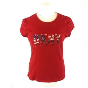 DKNY Jeans Women's Red T-shirt